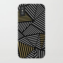 A Linear Black Gold iPhone Case