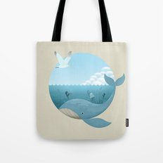 Whale & Seagull (US and THEM) Tote Bag