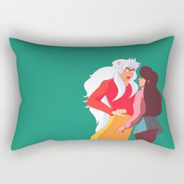 Inu Yasha & Kagome no background Rectangular Pillow