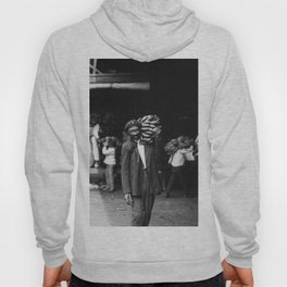 Unloading Bananas 1920s New Orleans Vintage Photograph Hoody