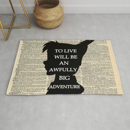 Peter Pan Over Vintage Dictionary Page - To Live Rug