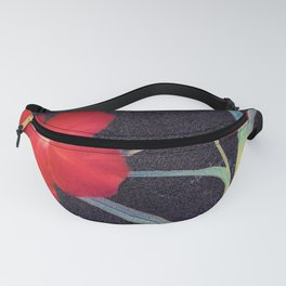 Breezy Rustic Red Flower Fanny Pack