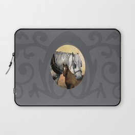 Plow Horse and Foal Laptop Sleeve