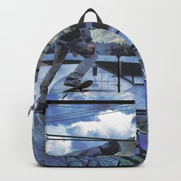 Tipping Point -Skateboarder Launching - Outdoor Sports Backpack