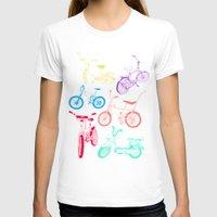 bikes T-shirts featuring Bikes by WEAREYAWN