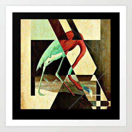 Flamingo Duet 2 Art Print