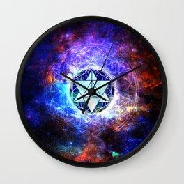 Sacred Geometry Merkaba Abstract Wall Clock