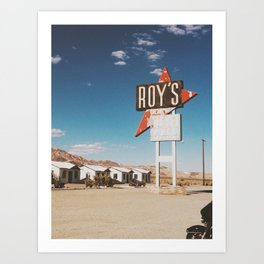 Roy's Motel Art Print