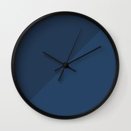 Blue Triangle V1 Wall Clock