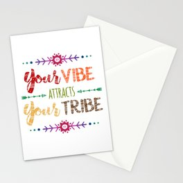 Colorful Tribal Bohemian decorative design Stationery Cards