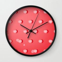 SHY PEACH Wall Clock