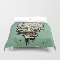 scream Duvet Covers featuring Scream by Keyspice