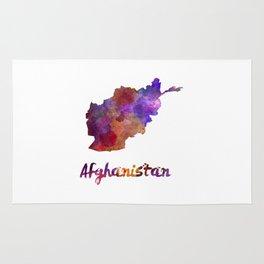 Afghanistan in watercolor Rug