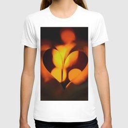 Beautiful Evening in Autumn - Heart Shape with Bokeh Light #decor #society6 #buyart T-shirt