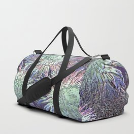 Artfully abstract blooming ice flowers Duffle Bag