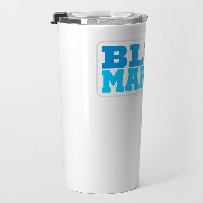 Blue Marlin Fish Makaira Nigricans Travel Mug