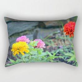 Zinnia Garden Rectangular Pillow