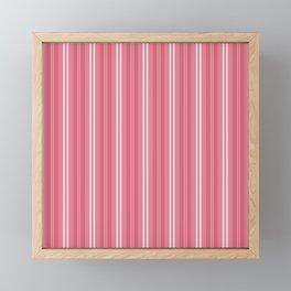 Nantucket Red and White Shades Pinstripe Framed Mini Art Print