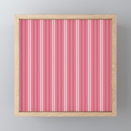 Nantucket Red and White Shades Pinstripe Framed Mini Art Print