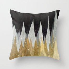 Six Snowy Trees Throw Pillow