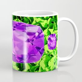 PURPLE AMETHYST FEBRUARY BIRTHSTONE GREEN ART Coffee Mug