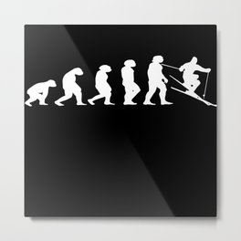 Evolution Ski Metal Print
