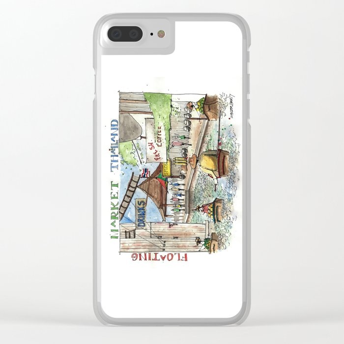 Thailand:  Floating Market Clear iPhone Case