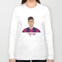 neymar Long Sleeve T-shirts featuring NEYMAR - FC BARCELONE by THE CHAMPION'S LEAGUE'S CHAMPIONS