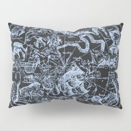 Ice on Black | Zodiac Skies & Astrological Ties Pillow Sham