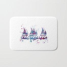 Little boats Bath Mat