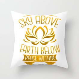 Yoga Meditation Gifts for Zen Mindfulness Throw Pillow
