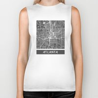 atlanta Biker Tanks featuring Atlanta map by Map Map Maps