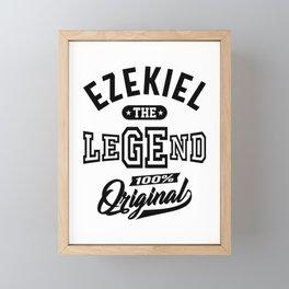 Ezekiel Personalized Name Birthday Gift Framed Mini Art Print