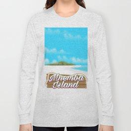 Mnemba Island travel poster Long Sleeve T-shirt