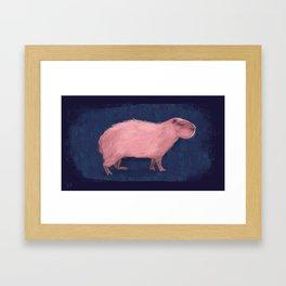 Capy Rosado Framed Art Print