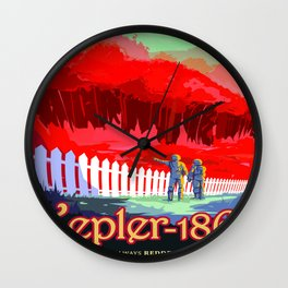 Vintage poster - Kepler-186f Wall Clock