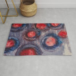 Red and Blue Eggs Rug