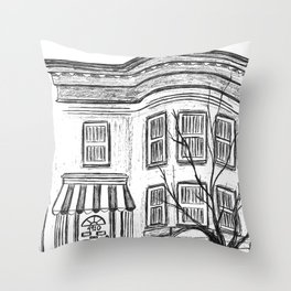 Brooklyn Brownstone  Throw Pillow