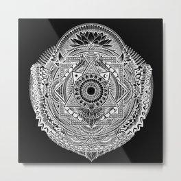 Metamorphic (black) Metal Print