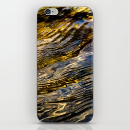 River Ripples in Copper Gold and Brown iPhone Skin