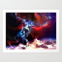 magic the gathering Art Prints featuring Celestial Force - Magic: The Gathering by vmeignaud