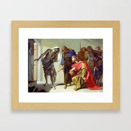 Bernardo Cavallino The Shade of Samuel Invoked by Saul Framed Art Print