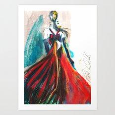 Oscar De La Rente Bow Dress Art Print