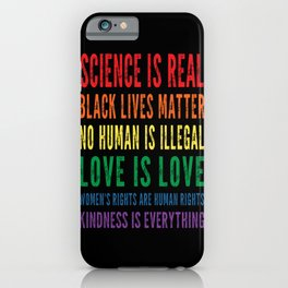 Science is real vintage design iPhone Case