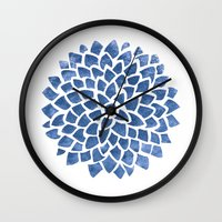 indigo Wall Clocks featuring Indigo by Color and Form