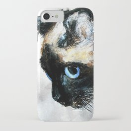 Siamese Cat Acrylic Painting iPhone Case