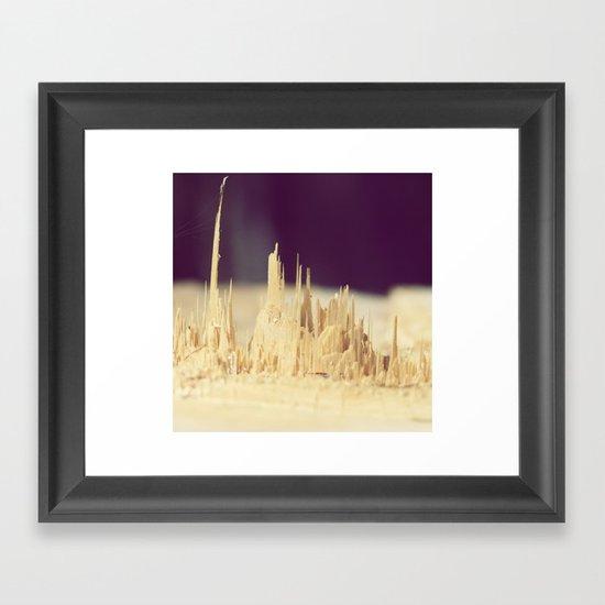 Wodden skyscrapers Framed Art Print