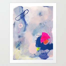 abstract joyful and wild meadow_001 Art Print