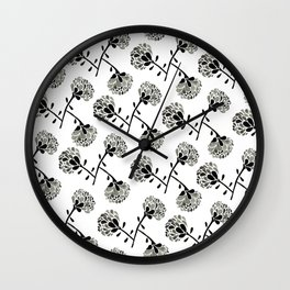 floral freefall Wall Clock