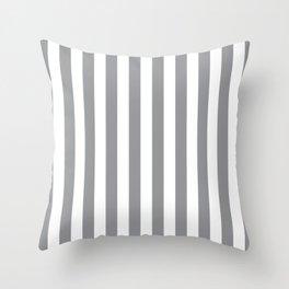 Vertical Grey Stripes Throw Pillow
